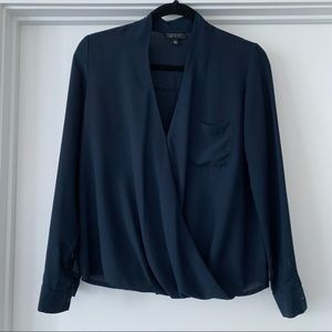 Topshop Navy Blouse Size 4 / Small
